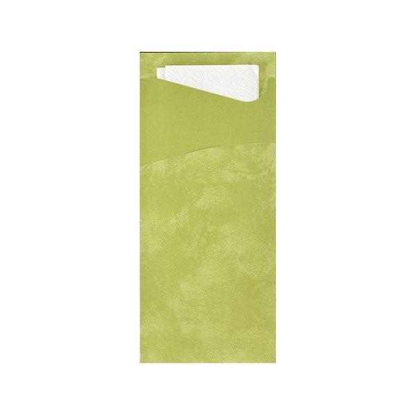 Конверт 19х8,5см Травяной+ салф.33 см. 2-сл (белая), бум, 100 шт