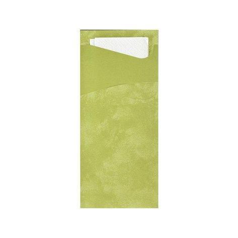 Конверт 19х8,5см Травяной+ салф.33 см. 2-сл (белая), бум, 100 шт, фото 2