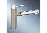 Смеситель кухонный Blanco Alta-S Compact серый беж/хром (517634)