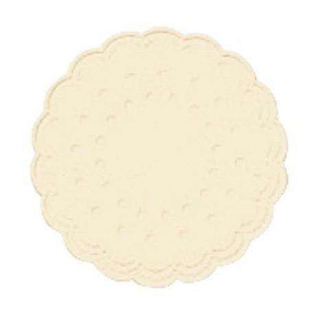 Салфетки (коастер)  d 7.5см, 9 сл, ваниль, Бумага, фото 2