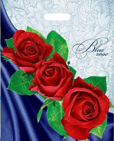 "Пакет (мешок) проруб. ПВД 47х38см, 60мкм, ""Blue rose"", 25 шт, фото 2"