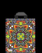 """Пакет (мешок) петля ПВД 34х28 см, 60мкм, """"Орнамент"""", 50 шт"""