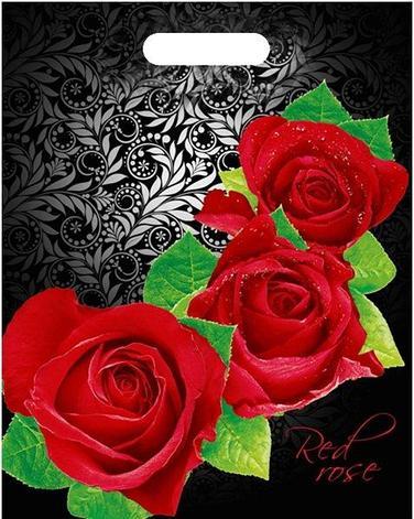 "Пакет (мешок) проруб. ПВД 40х30см, 60мкм, ""Red rose"", 50 шт, фото 2"