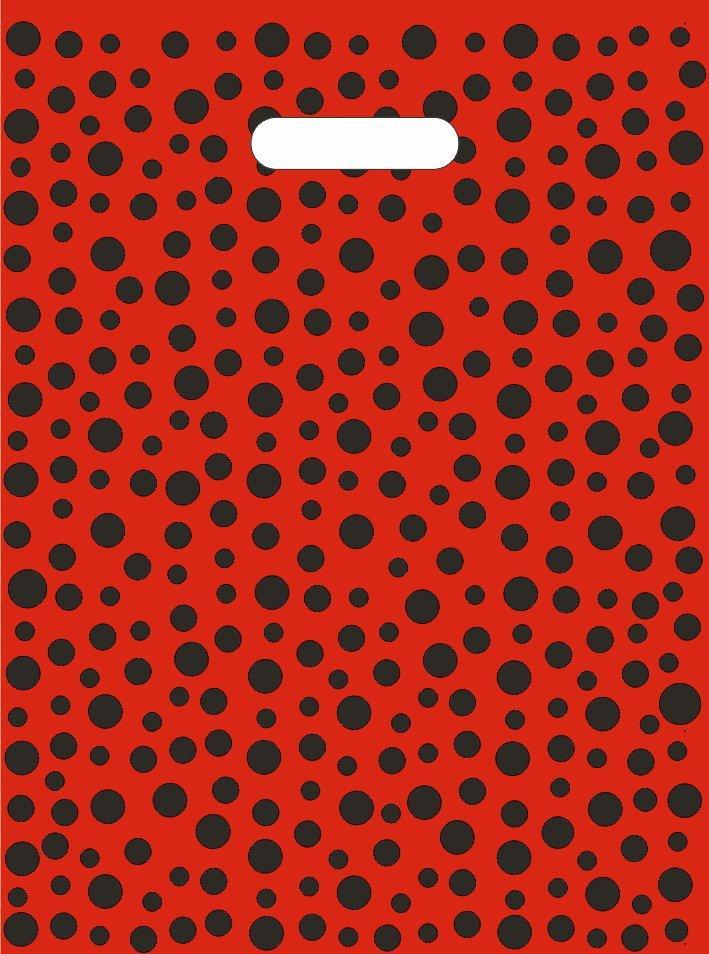 """Пакет (мешок) проруб. ПВД 40х30см, 60мкм, """"Горошек красный"""", 25 шт"""
