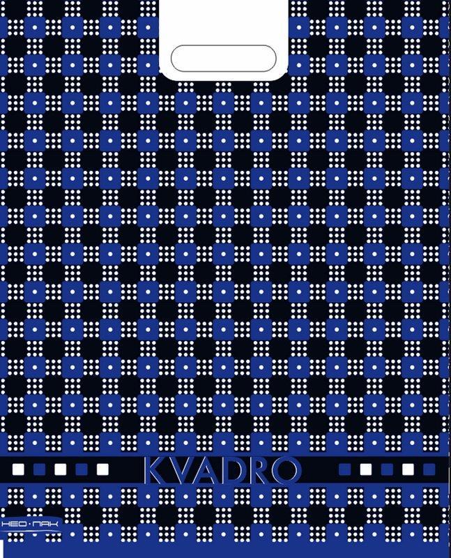 """Пакет (мешок) проруб. ПВД 48х38см, 35мкм, """"Квадро сине-черный"""", 25 шт"""