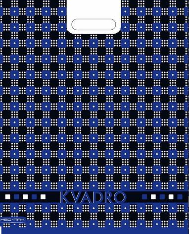 """Пакет (мешок) проруб. ПВД 48х38см, 35мкм, """"Квадро сине-черный"""", 25 шт, фото 2"""