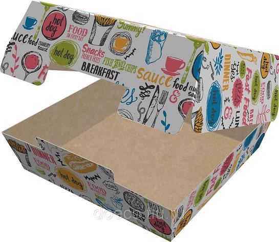 Коробка д/гамбургера, 100х100х60мм, ECO BURGER M ENJOY с печатью, картон, 150 шт, фото 2