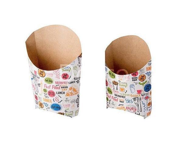 Коробка д/картоф фри, ECO FRY ENJOY M д/фри, картон , 1000 шт, фото 2