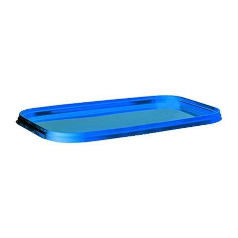 Крышка прямоугольная к ведру 3.3 л. 250х158, синяя, ПП, 315 шт, фото 2