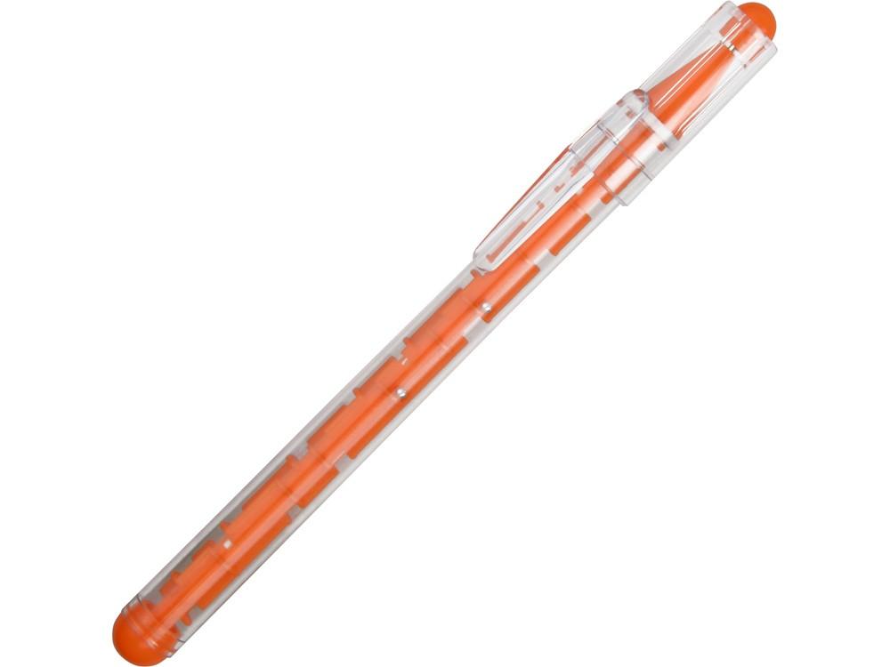 Ручка шариковая Лабиринт, оранжевый