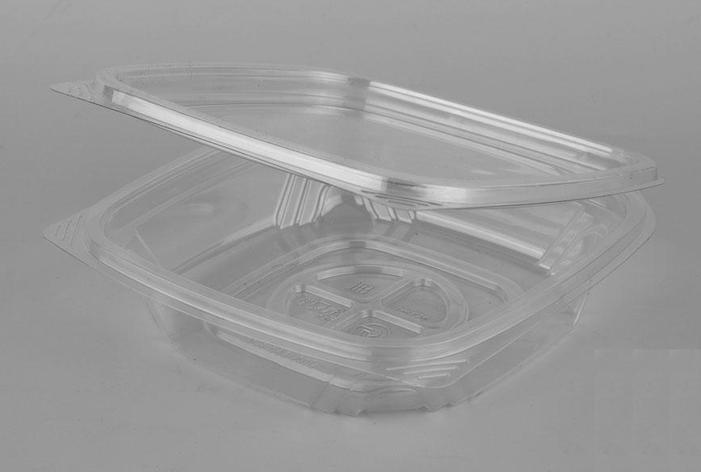 Контейнер квадрат (СпК-135) 137х142х34мм, 250мл, прозрачный, ПЭТ , 300 шт, фото 2