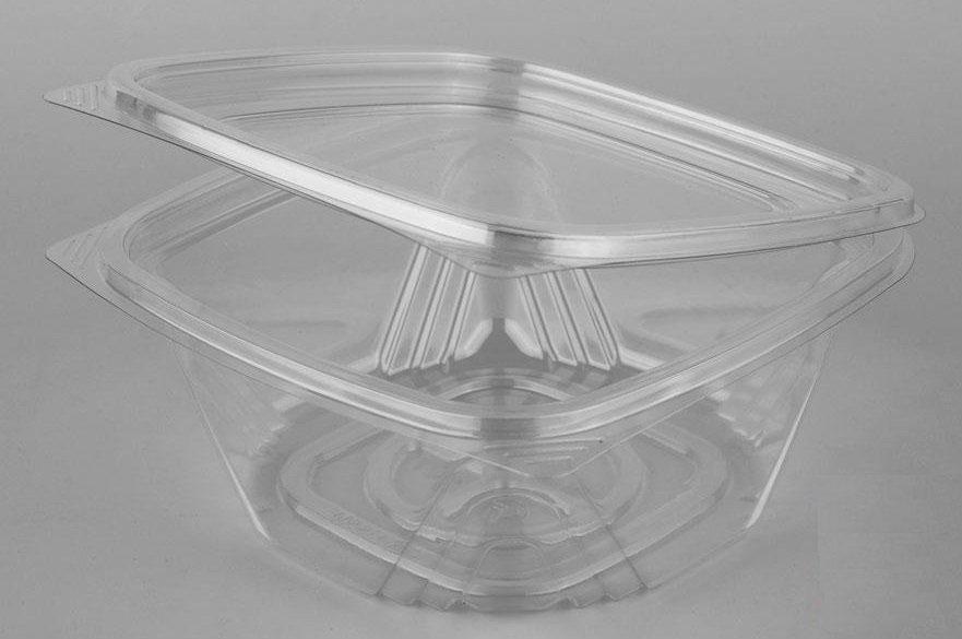 Контейнер квадрат (СпК-135) 137х142х64,3мм, 500мл, прозрачный, ПЭТ , 300 шт