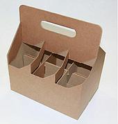 Упаковка д/бокалов c руч. 370х245х300 6яч., d120мм, 50 шт