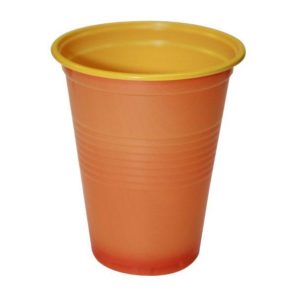 Стакан хол/гор., 0.18л, d 70.3мм, h 84мм, жёлто-оранж.,BiColor, ПС, 3000 шт