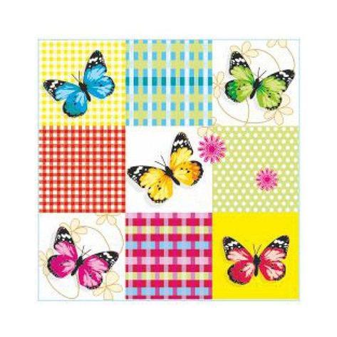 "Салфетки 33х33см, 2 сл., ""Бабочки на клетке"", Бумага, 20 шт, фото 2"