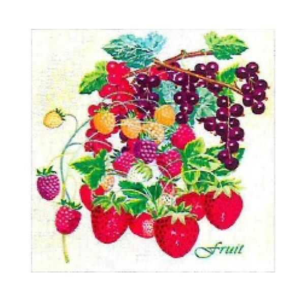 "Салфетки 33х33см, 2 сл., ""Летние фрукты"", Бумага, 20 шт"