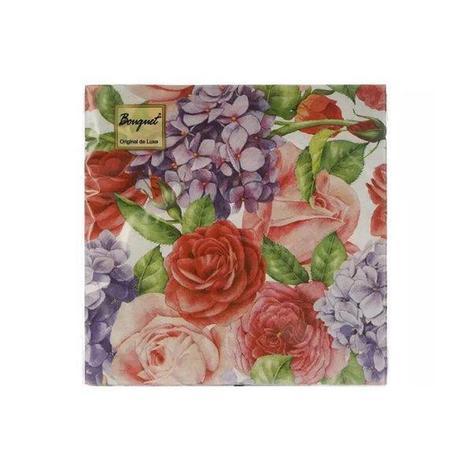 """Салфетки 33х33см, 2 сл., """"Прекрасные цветы"""", Бумага, 20 шт, фото 2"""