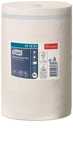 Tork Плюс протирочная бумага в мини рулоне с центральной вытяжкой, бел., 2 сл., 75м х 21,5см, 214 л, фото 2