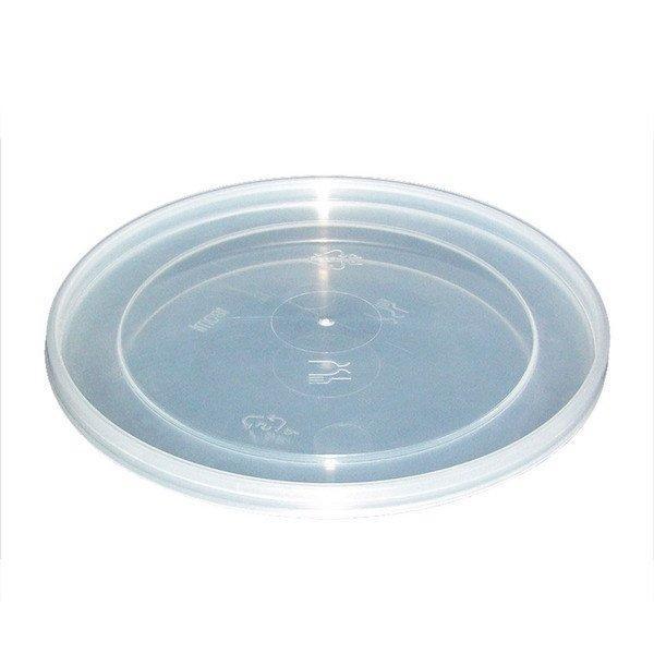 Крышка прес./мёд, кругл., d 122мм, прозрачн., ПП, 840 шт