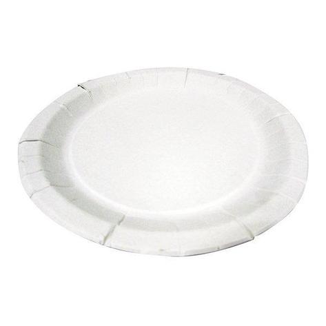 Тарелка d 230мм, толщ. 0.5мм, бел., картон, 250 шт, фото 2