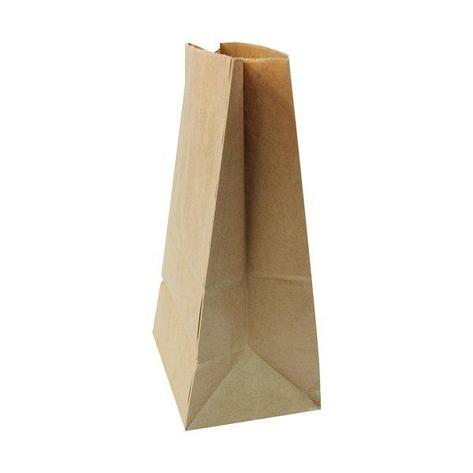 Пакеты на вынос (180+120)х290мм коричн.,70г/м2, крафт бум. б/ручек , 600 шт, фото 2