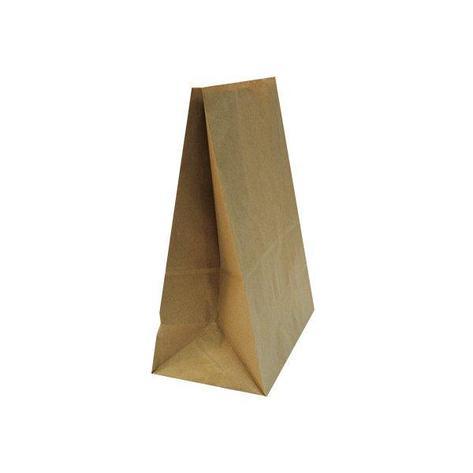 Пакеты на вынос (220+120)х290мм коричн.,50г/м2, крафт бум. б/ручек , 1000 шт, фото 2