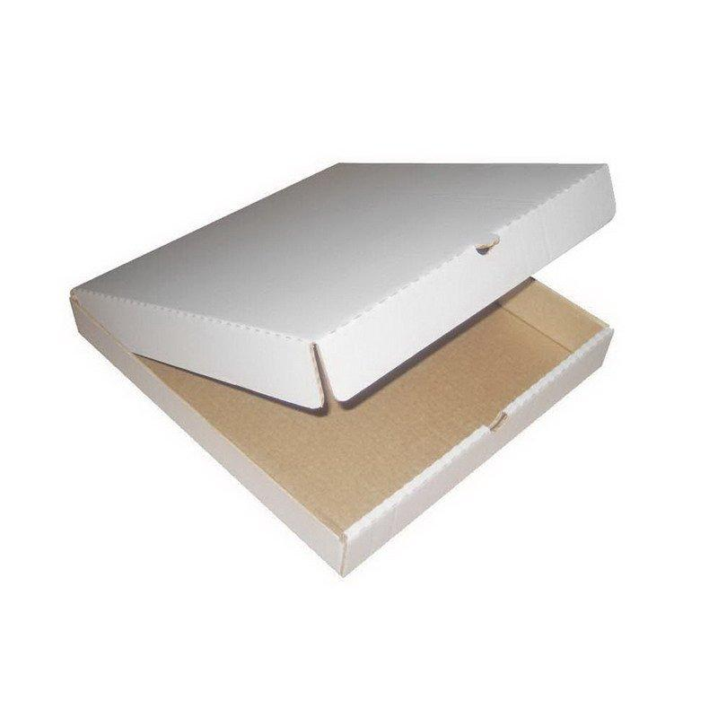Коробка д/пиццы, 250х250х40мм, бел., картон, 2500 шт