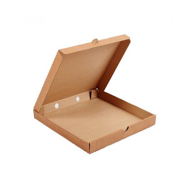 Коробка д/пиццы, 250х250х40мм, бурый, картон, 2500 шт