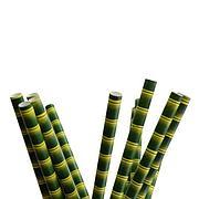 """Трубочки бумажные  """"Бамбук"""" цвет желтый, зеленый """"d=8мм L = 197мм"""", 250 шт"""