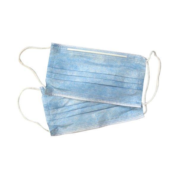 Маска медиц.3-х слойная голубая на резинках , р-р 18х9 см , 50 шт