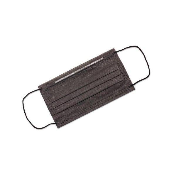 Маска медиц.3-х слойная черная на резинках 50шт/упак, 50 шт