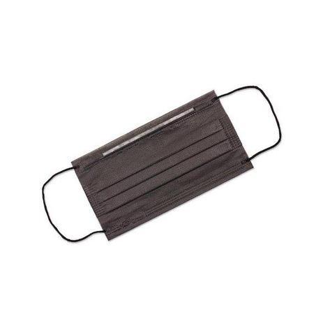 Маска медиц.3-х слойная черная на резинках 50шт/упак, 50 шт, фото 2