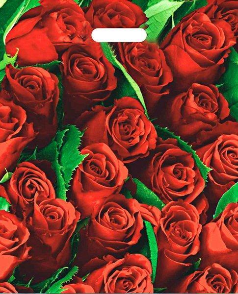 """Пакет (мешок) проруб. ПВД 47х38см, 60мкм, """"Розы"""", 25 шт"""
