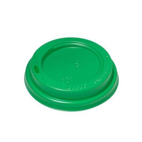 Крышка д/стаканов, d 80мм, салат., боковое отверстие, ПС, 1000 шт, фото 2