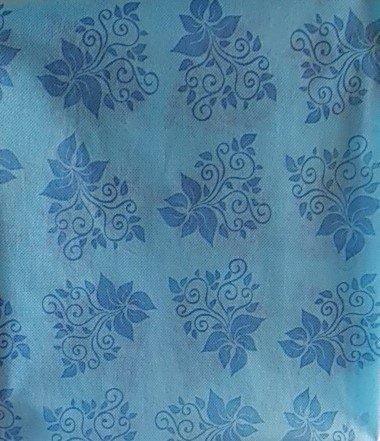 """Скатерть 140х200см, """"Бабочки/узоры"""", голуб., (нетканая с ПП покрытием), фото 2"""