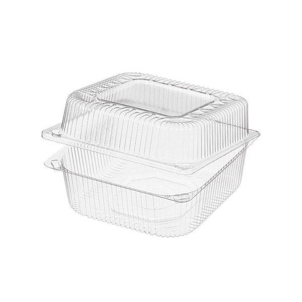 Упаковка 1(0.8+0.2)л, квадратн., внеш. 153х152х86мм, внутр. 140х140х81мм, прозрачн., ОПС, 570 шт