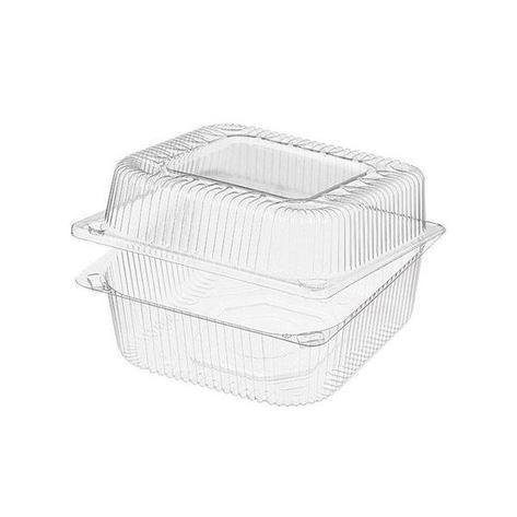 Упаковка 1(0.8+0.2)л, квадратн., внеш. 153х152х86мм, внутр. 140х140х81мм, прозрачн., ОПС, 570 шт, фото 2