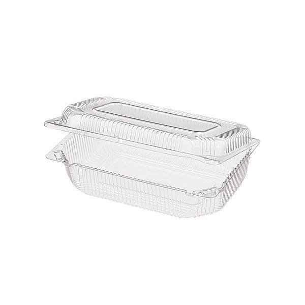 Упаковка д/выпечки, 1,55(1.25+0.3)л, прямоуг., внеш. 219х142х64мм, внутр. 206х130х60мм, прозрачн., ОПС, 400 шт
