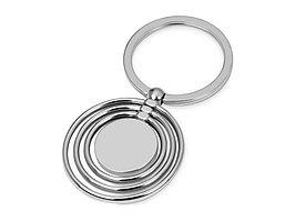 Брелок с 3 кольцами и диском, вращающимися вокруг одной оси, серебристый (артикул 706220)