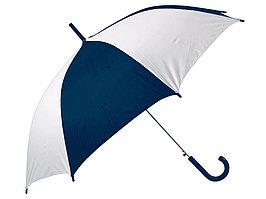 Зонт-трость Тилос, синий/белый (артикул 906162)
