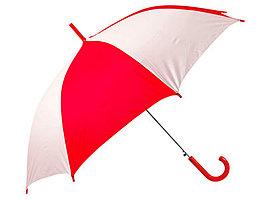 Зонт-трость Тилос, красный/белый (артикул 906161)