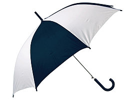 Зонт-трость Тилос, темно-синий/белый (артикул 906164)