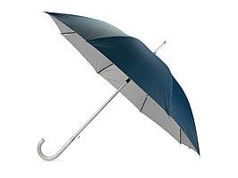 Зонт-трость полуавтомат Майорка, синий/серебристый (артикул 673010.04)