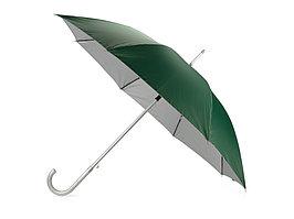 Зонт-трость полуавтомат Майорка, зеленый/серебристый (артикул 673010.05)
