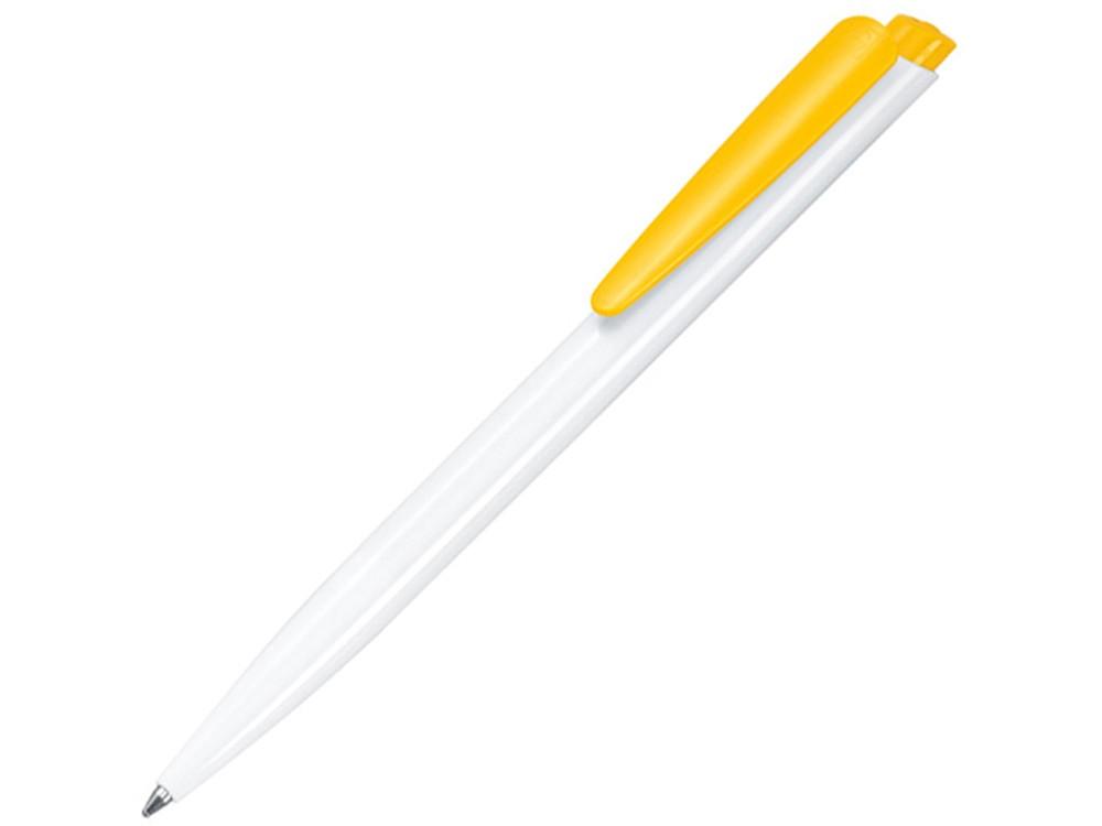 Ручка шариковая Senator Dart Basic Polished, белый/желтый
