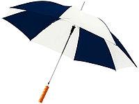 Зонт-трость Lisa полуавтомат 23, темно-синий/белый, фото 1