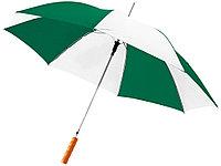 Зонт-трость Lisa полуавтомат 23, зеленый/белый, фото 1