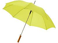 Зонт-трость Lisa полуавтомат 23, неоново-зеленый, фото 1