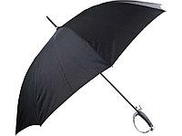 Зонт-трость Генеральский, полуавтомат, черный, фото 1