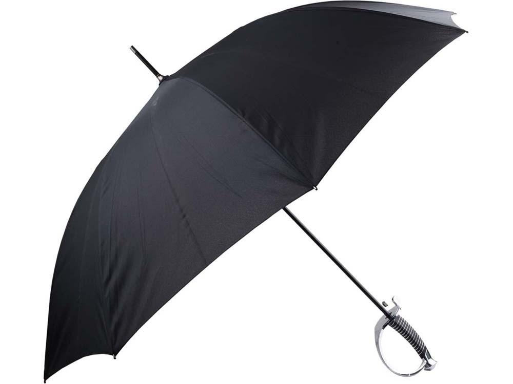Зонт-трость Генеральский, полуавтомат, черный